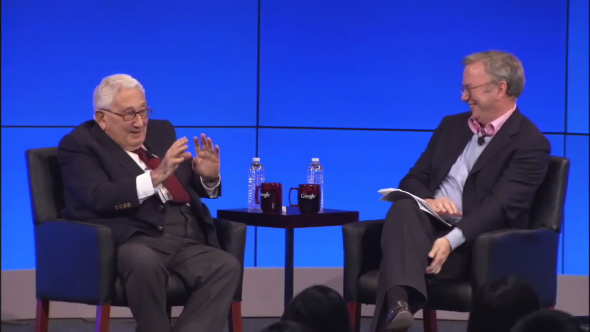 Henry Kissinger and Eric Schmidt, 2013